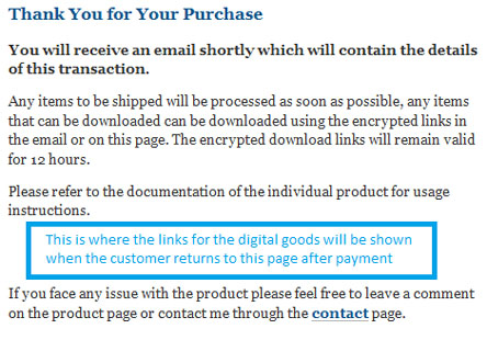Thank You Page Screenshot Before Payment