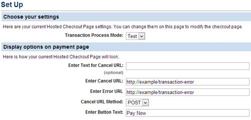 screenshot showing paypal manager setup error page