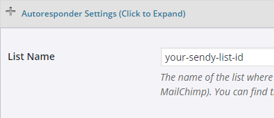 screenshot of sendy autoresponder section in the estore product interface
