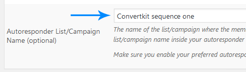 convertkit-sequence-name-in-membership-level