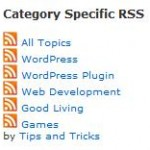 WordPress Plugin for Category Specific RSS feed subscription menu