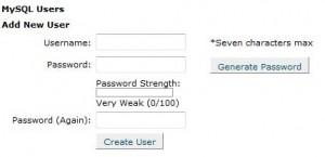 MySQL Database User Creation