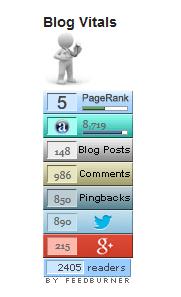 wordpress blog vitals widget screenshot