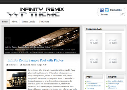 Infinity Remix Theme Screenshot