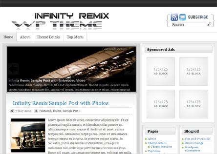Infinity Remix Theme Screenshot
