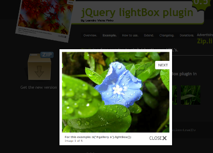Lightbox screenshot
