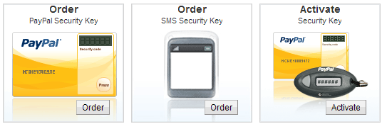 Ordering PayPal Security Key