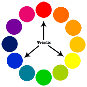 example of triadic color scheme color theory give your site design