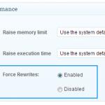 force rewrite settings screenshot