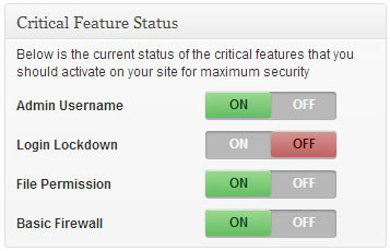 critical security feature status