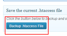 backup htaccess file