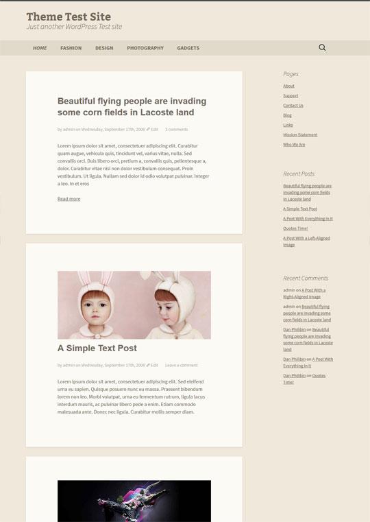 2013 wordpress child theme preview
