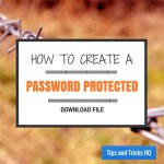 How to Create a Password Protected Download in WordPress