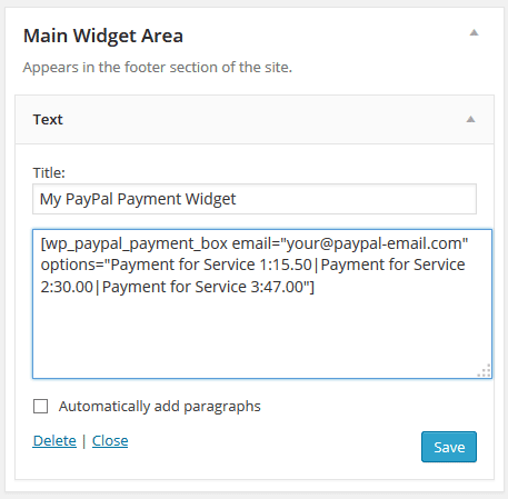 wordpress-paypal-payment-widget-shortcode