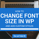 How to Change Font Size on WordPress