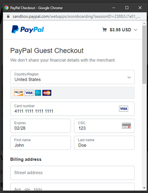 PayPal Test Cards (Sandbox Testing) - Tips and Tricks HQ